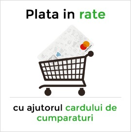 Plata in rate - card de cumparaturi